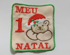 Aplique patch termocolante body - Meu 1º Natal