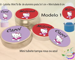 Kit Latinhas e Mini Tubetes -Hello kitty