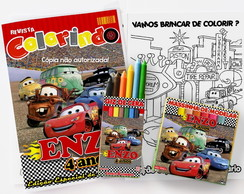 Kit Colorir Carros Disney com massinha personalizado