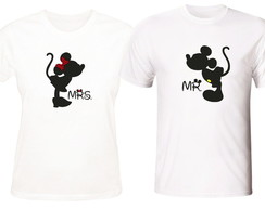 Camisetas Casal Mickey e Minnie