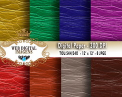 Papel Digital Rough Shiny Leathers - 08 Papeis Digitais CD69