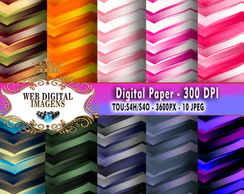 Papel Digital Metallic Chevrons - 10 Papeis Digitais