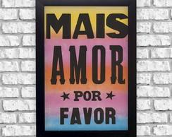 Adesivo Decorativo Frases Mais Amor Por Favor Elo7