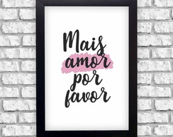 Frase Mais Amor Por Favor Elo7