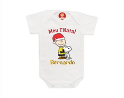 Body ou Camiseta 1º Natal - Charlie Brown