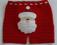 Shorts Papai Noel no bumbum