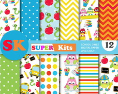 Kit Digital Scrapbook Escola 17