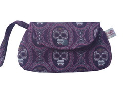 Bolsinha Mini Clutch Caveiras Dark