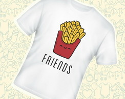 Camiseta Infantil Batata Frita Best Friends C567BR