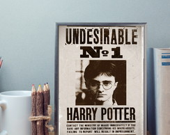 Poster Harry Potter com moldura