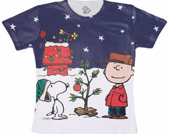 Camiseta Charlie Brown Natal