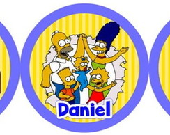 Topper para doces 3,5cm Simpsons