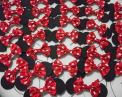 Kit Festa 15 Orelhas da Minnie e 15 orelhas do Mickey.30 Pçs