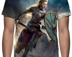 Camiseta Série Vikings - Lagertha - Estampa Total