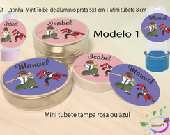 Kit Latinhas e Mini Tubetes -Ben 10