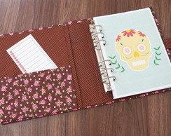 Kit simples planner A5 - Caveira Mexicana (ARQUIVO DIGITAL)