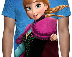 Camiseta Filme Frozen - Anna - Estampa Total