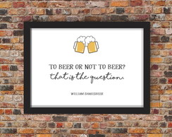 Pôster - To beer or not to beer