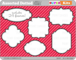 Kit Digital Scrapbook Frames 2