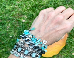 Bracelete Boho Azul do Mar