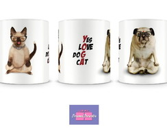 Caneca Yoga Pet Personal Presentes