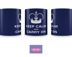 Caneca KEEP CALM AND CARRY ON Personal Presentes