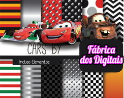 Kit Papel Digital - Carros Disney
