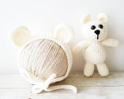 Props Newborn Amigurumi Ursinho com Touca em Croche  ac3dc7748e8