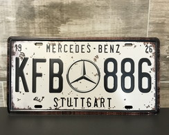 Placa de Metal Mercedes Benz Stuttgart