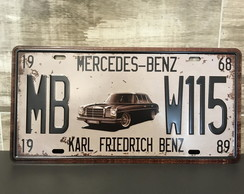 Placa de Metal Mercedes Benz - Karl Friedrich Benz