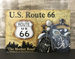 Placa de Metal US Route 66