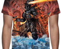 Camiseta Godzilla - Estampa Total