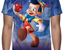Camiseta Disney Pinóquio - Estampa Total