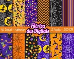 Kit Papel Digital - Halloween / Dia das Bruxas 1