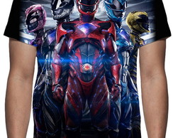 Camiseta Filme Power Rangers - 2017 Mod 02 - Estampa Total