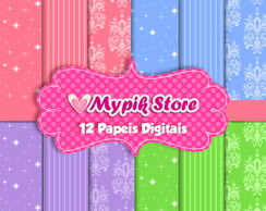 Kit Papel Digital Princesas Modelo 13