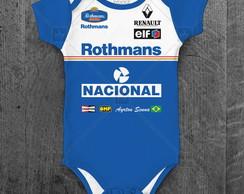 1b36df1ad8 ... Ayrton Senna Williams Body Infantil - Bebê Fórmula 1 Corrida