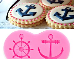 Molde Silicone Ancora Leme Pasta Americana Biscuit Cupcake