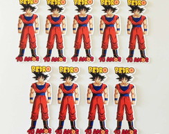 Apliques para tubetes - Dragon Ball