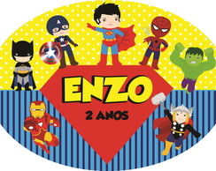 Placa Elipse decorativa vingadores baby 3 - 60x40 - MDF 3MM