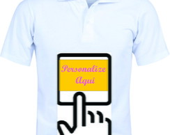 Camiseta Adulto Polo Branca Dry Fit Masculina a personalizar