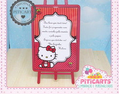 Plaquinha de mesa Hello Kitty
