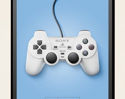 Quadro Poster Decorativ Controle Playstation One Dual Shock.