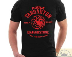 Camiseta Game Of Thrones Casa Targaryen Série