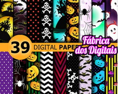 Kit Papel Digital - Halloween / Dia das Bruxas 2