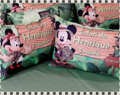 ALMOFADAS MICKEY E MINNIE SAFARI