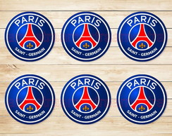 PSG Paris Saint Germain Adesivos 5 Cm