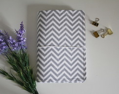 Traveler Notebook - Chevron cinza