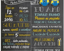 Banner Chalkboard dos Minions