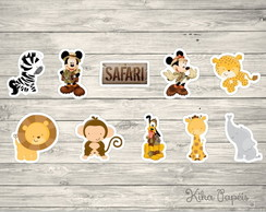 Aplique Safari do Mickey e Minnie 3,5 cm